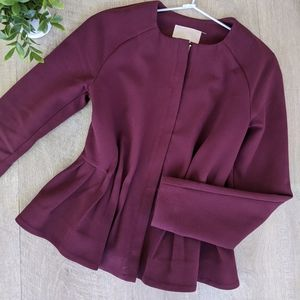 Peplum Jacket in Wine red ✨